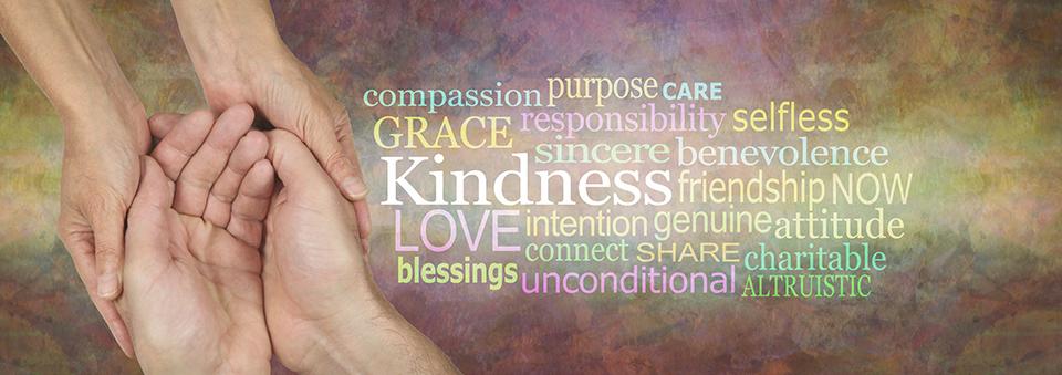 Photo of words describing random acts of kindness
