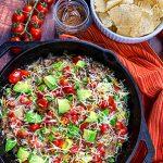 Photo of prepared beef skillet taco recipe